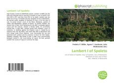 Bookcover of Lambert I of Spoleto