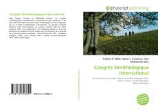 Portada del libro de Congrès Ornithologique International