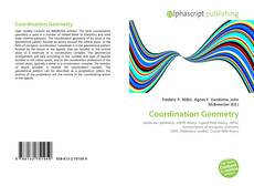 Bookcover of Coordination Geometry