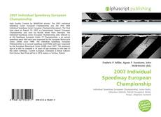 Bookcover of 2007 Individual Speedway European Championship