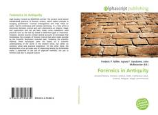 Couverture de Forensics in Antiquity