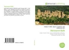 Bookcover of Hermann Balk