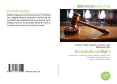Couverture de Constitutional Right