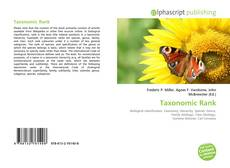 Bookcover of Taxonomic Rank