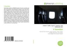 Bookcover of V bomber