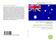 Portada del libro de Native Title in Australia