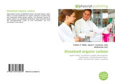 Bookcover of Dissolved organic carbon