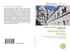 Bookcover of Elisabeth Förster-Nietzsche