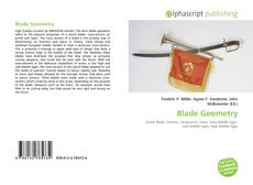 Bookcover of Blade Geometry