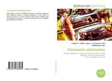 Bookcover of Constraint satisfaction