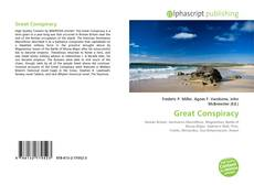Capa do livro de Great Conspiracy