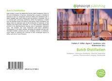 Couverture de Batch Distillation