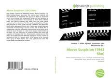 Bookcover of Above Suspicion (1943 film)