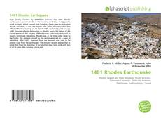 Bookcover of 1481 Rhodes Earthquake