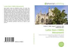 Latter Rain (1880s Movement) kitap kapağı