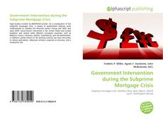 Bookcover of Government Intervention during the Subprime Mortgage Crisis
