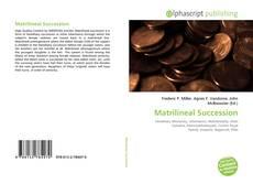 Bookcover of Matrilineal Succession