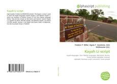 Bookcover of Kayah Li script