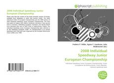 Bookcover of 2008 Individual Speedway Junior European Championship