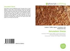 Bookcover of Jerusalem Stone