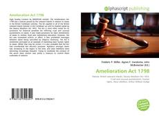 Bookcover of Amelioration Act 1798