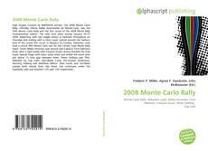 2008 Monte Carlo Rally kitap kapağı