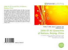 Portada del libro de 2006–07 A1 Grand Prix of Nations, Beijing, China