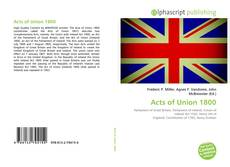 Acts of Union 1800 kitap kapağı