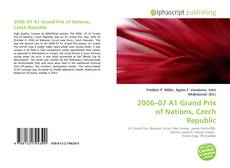 Portada del libro de 2006–07 A1 Grand Prix of Nations, Czech Republic