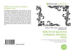 Capa do livro de 2006–07 A1 Grand Prix of Nations, Shanghai, China