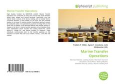 Bookcover of Marine Transfer Operations