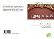 Ban Hin Taek kitap kapağı