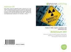 Bookcover of Américium 241