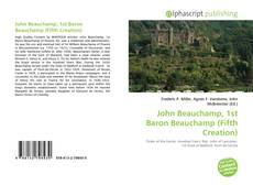 Buchcover von John Beauchamp, 1st Baron Beauchamp (Fifth Creation)