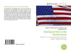 Bookcover of Aboriginal Title in the United States