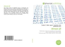 Bookcover of Almost all