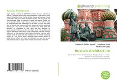 Couverture de Russian Architecture