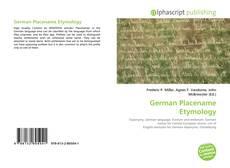 Borítókép a  German Placename Etymology - hoz