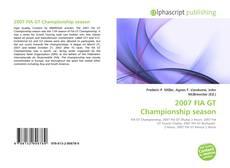 Bookcover of 2007 FIA GT Championship season