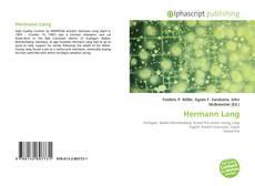 Portada del libro de Hermann Lang