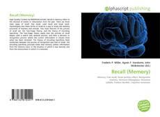 Buchcover von Recall (Memory)