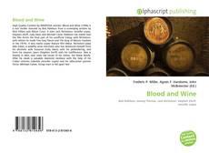 Buchcover von Blood and Wine