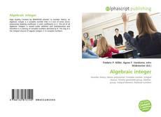 Bookcover of Algebraic integer