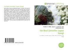 Capa do livro de I'm Real (Jennifer Lopez Song)