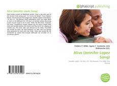 Capa do livro de Alive (Jennifer Lopez Song)