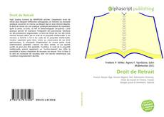 Bookcover of Droit de Retrait