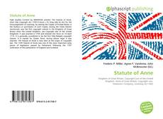 Capa do livro de Statute of Anne