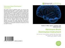 Couverture de Herrmann Brain Dominance Instrument