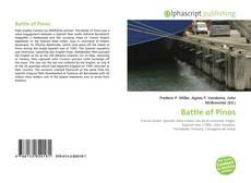Portada del libro de Battle of Pinos
