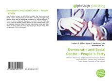 Bookcover of Democratic and Social Centre – People´s Party